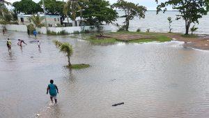 Torres Strait Islanders after sea surge