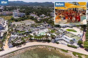 Ibiza left deserted by coronavirus as before and after pictures show party island's haunting transformation