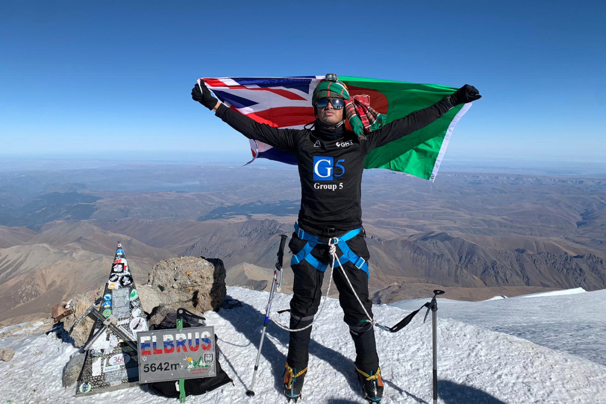 Brit mountaineer scales Europe's highest mountain 5 days after recovering from coronavirus