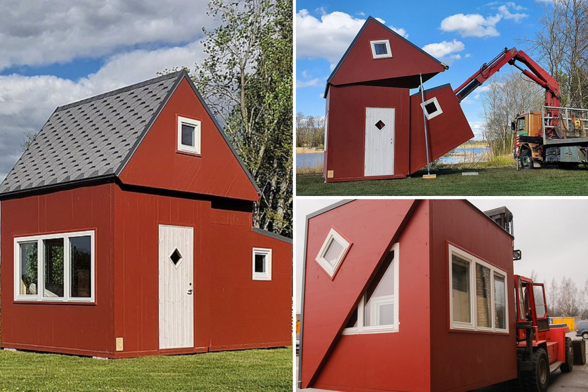 Unbelievable FOLDING home might be taken anyplace and unfurled in simply three hours