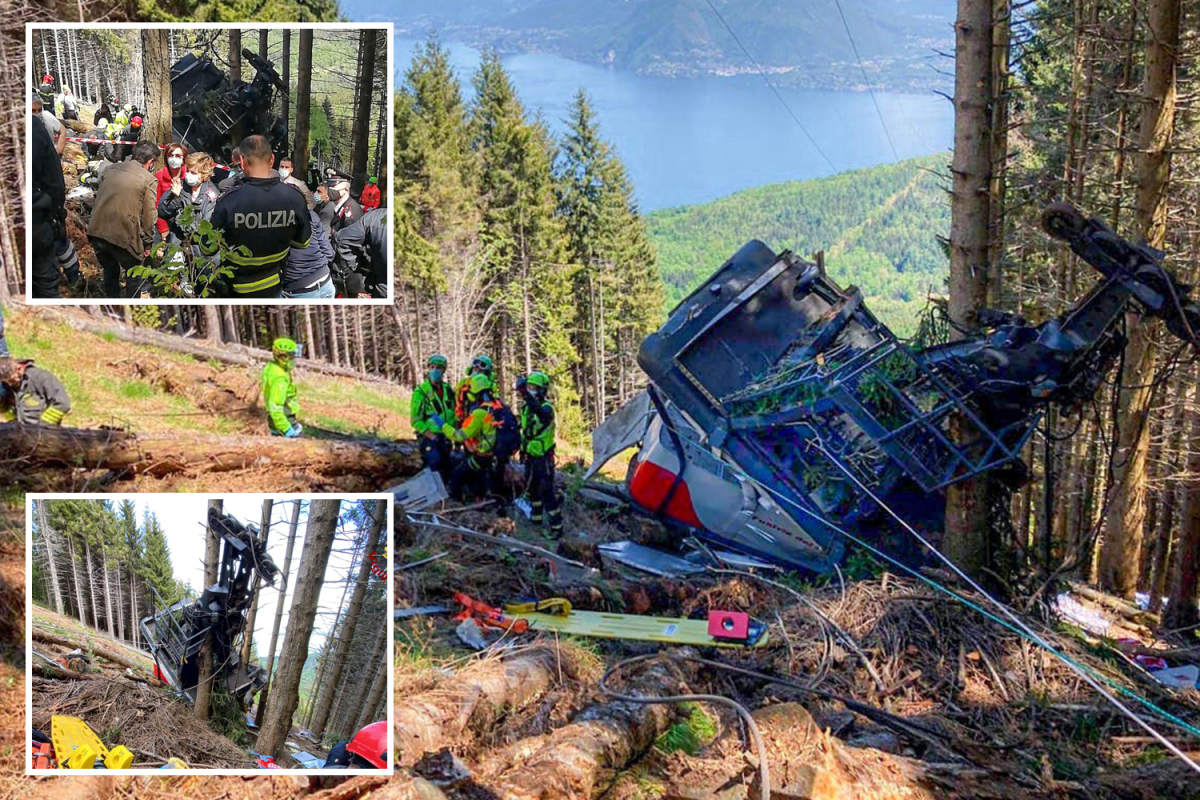 Italy cable automobile accident: 14 lifeless as little one dies in hospital after 'cable snaps' sending vacationers crashing down mountain