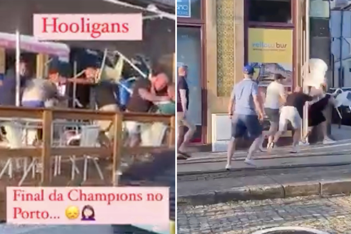Stunning second rival Chelsea and Manchester Metropolis followers throw punches and chairs in WWE-style scrap earlier than last