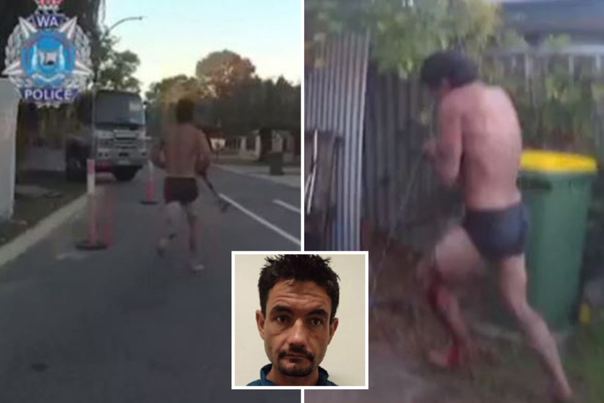 Bloodsoaked 'Terminator' flees in simply his underpants regardless of being Tasered FIVE instances by cop