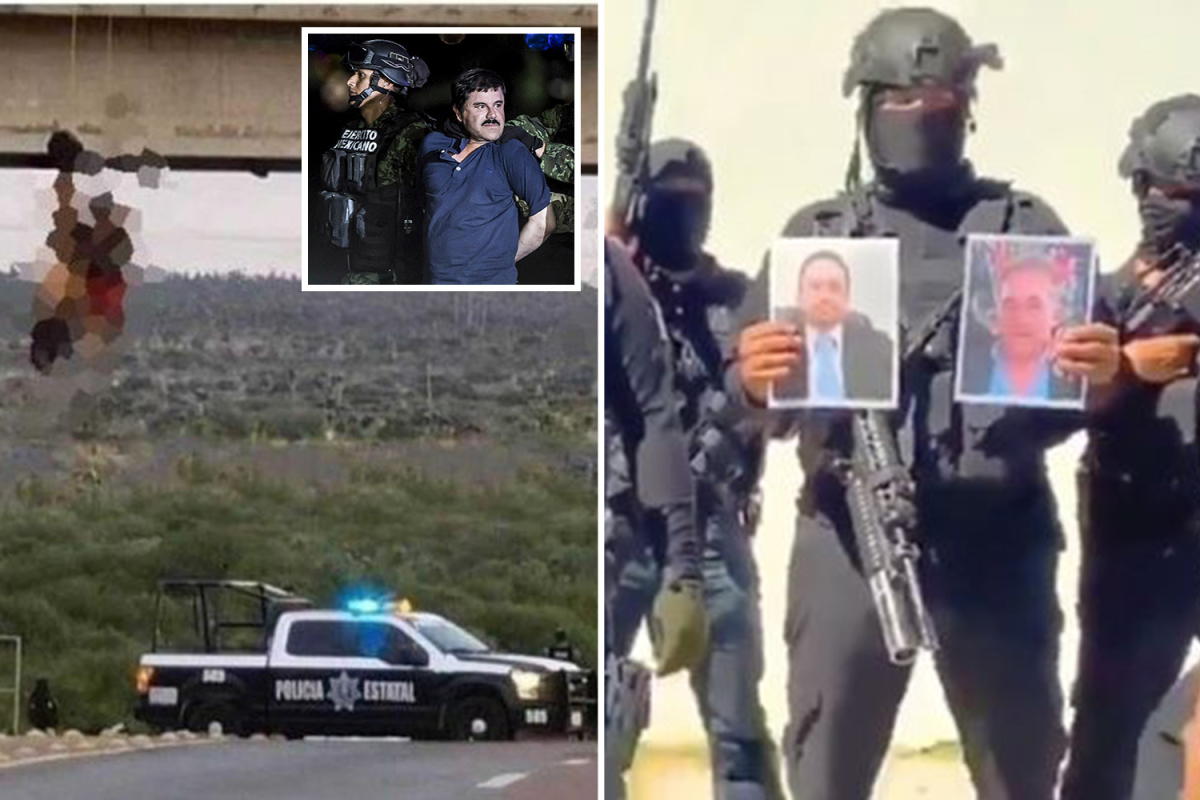 El Chapo's cartel torture and kill rivals earlier than hanging bare our bodies from bridge in brutal turf warfare