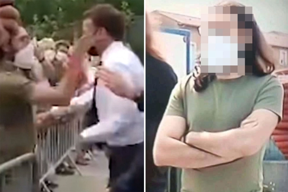 Hitler-loving voter who slapped Macron says he was 'disgusted' by president's 'mendacity face' as he's jailed for four months