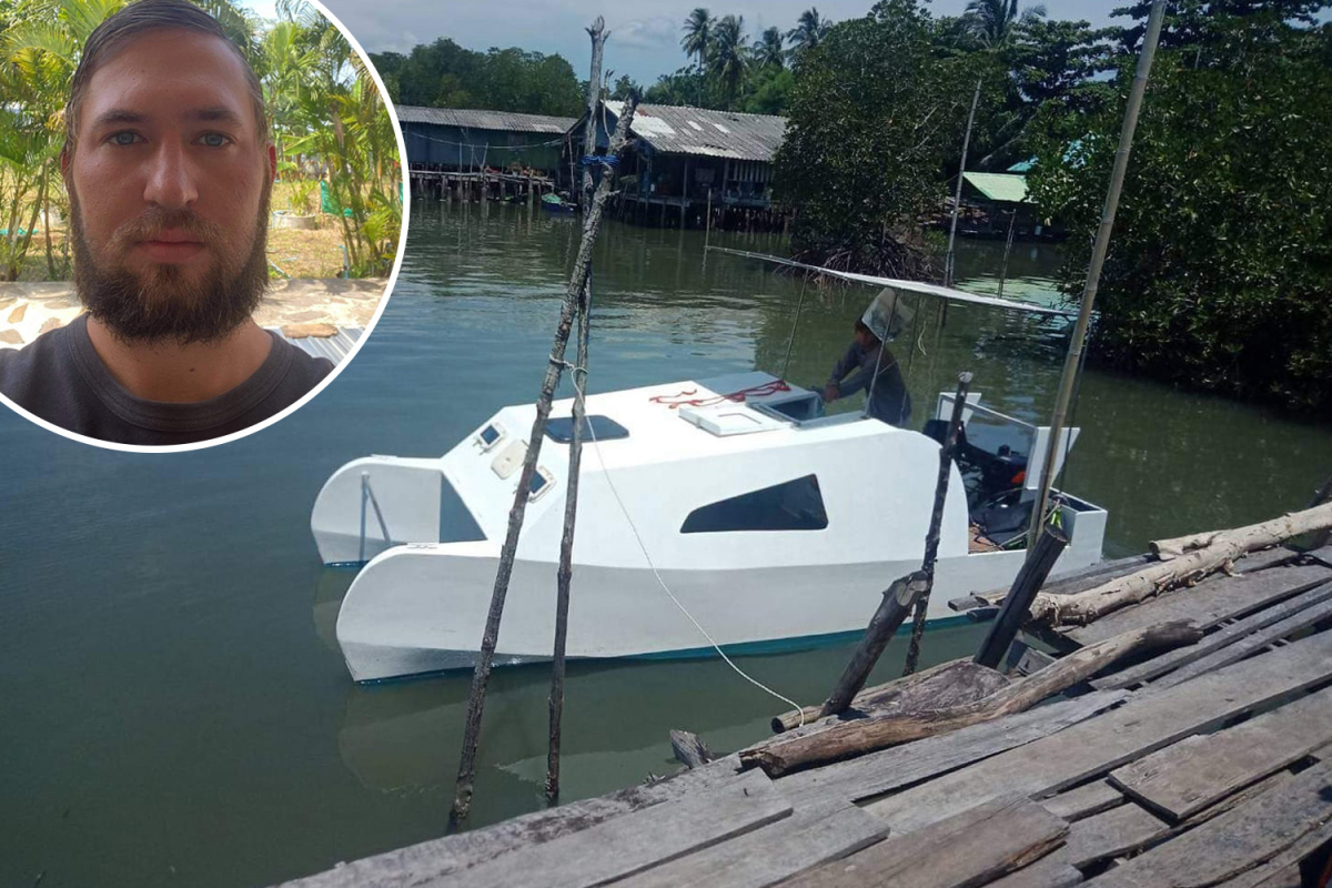 Thriller as man discovered useless on his boat with keys in ignition and pockets on board off coast of Thailand