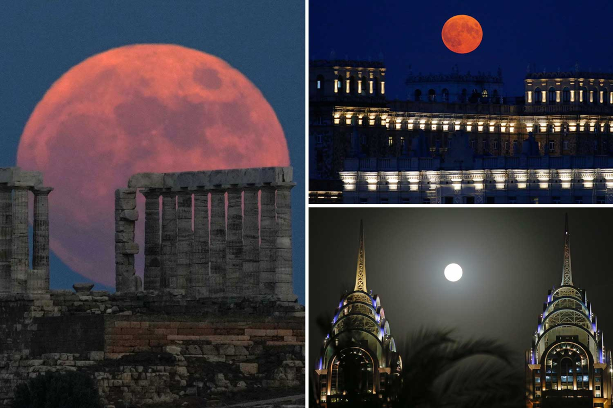 Strawberry Tremendous Moon lights up the evening in spectacular pics from world wide