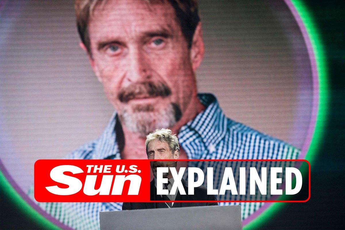 What's the John McAfee QAnon conspiracy idea?