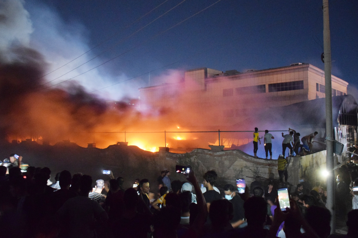 Not less than 50 killed as raging fireplace rips by Covid isolation ward at hospital in Iraq after 'oxygen tank explodes'