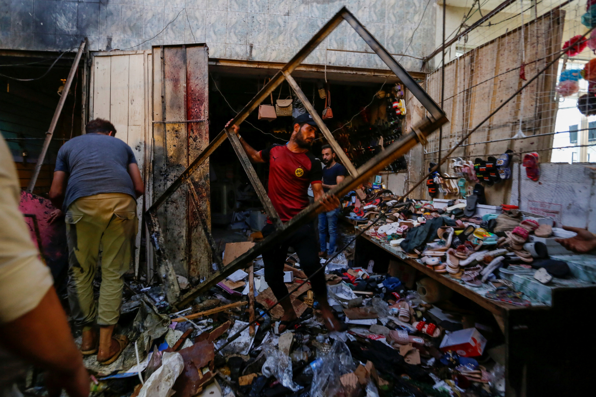 Baghdad bombing – 35 folks killed and dozens wounded in market assault on eve of the Eid al-Adha competition