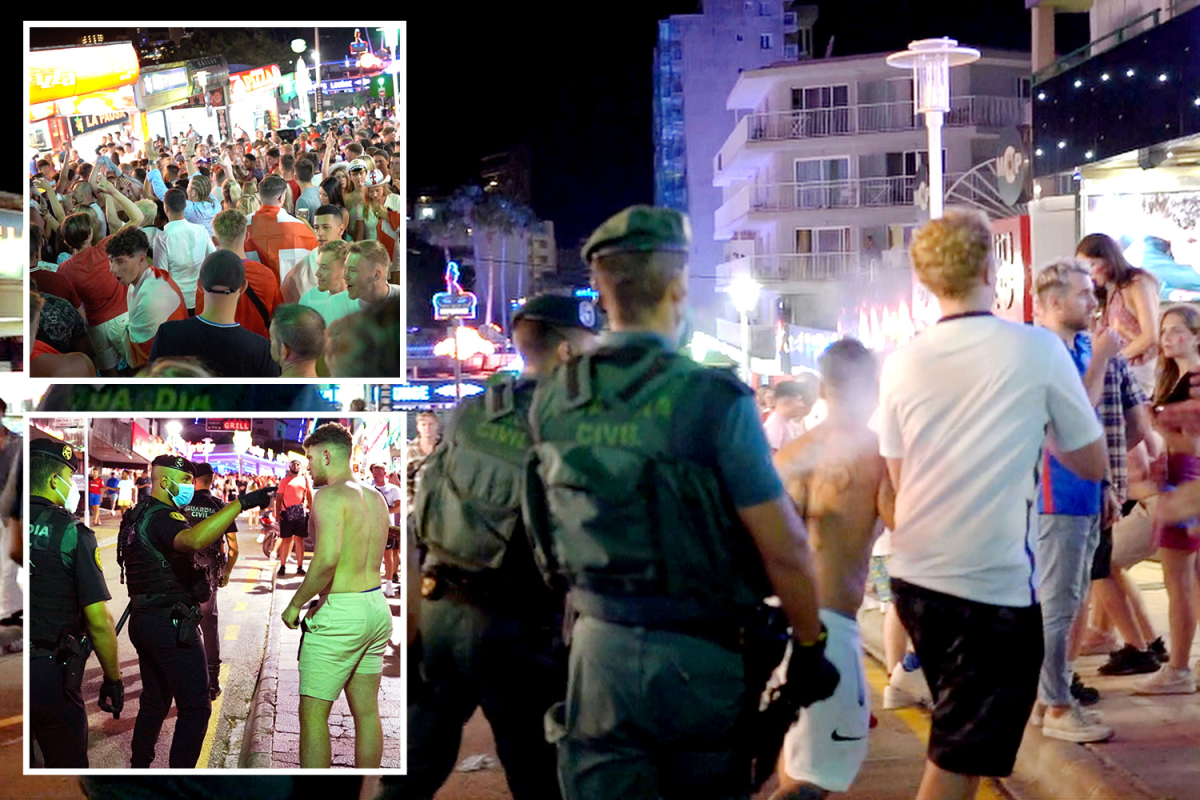 Brutal Spanish cops pepper-spray England followers celebrating Euro 2020 semi-final win as they occasion on Magaluf strip