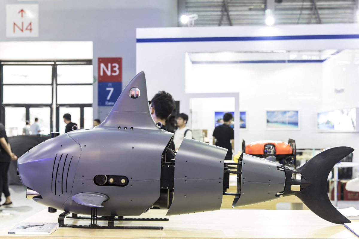China is constructing a ROBO-SHARK drone powered by bionic tailfin to spy on enemy ships and hunt US Navy submarines