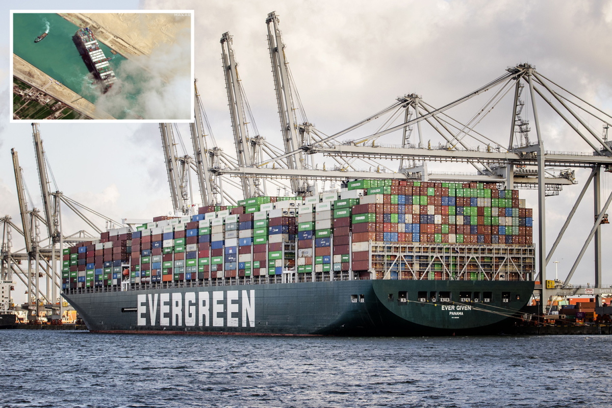 Ever Given FINALLY docks in Rotterdam to unload its rotting cargo 129 days after it blocked the Suez Canal