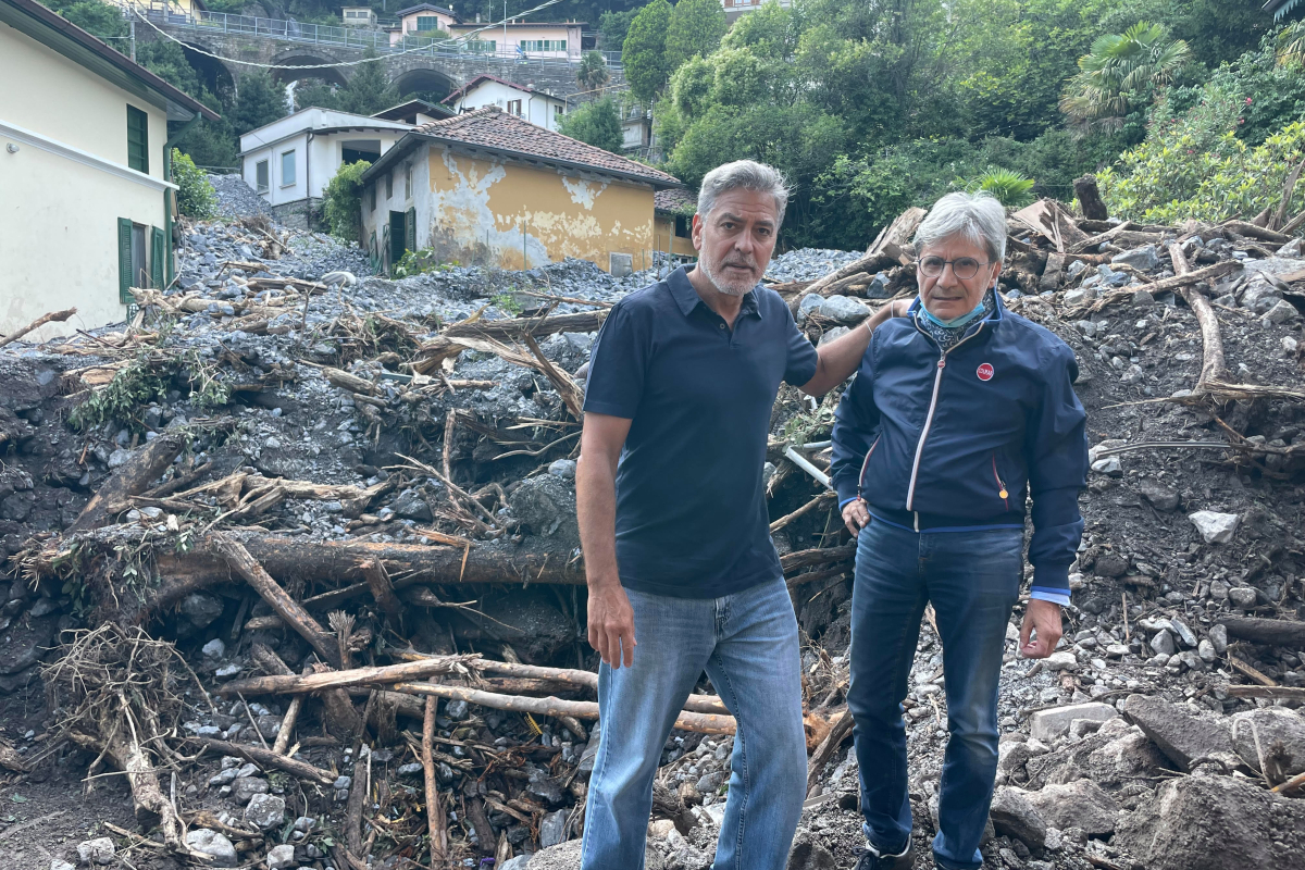 George Clooney caught up in Italy flood 'catastrophe zone' as 'wall of water' smashes by means of properties