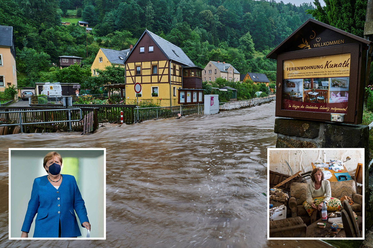Germany floods – Unstable dam liable to COLLAPSE as loss of life toll hits 180 and Angela Merkel to go to right now