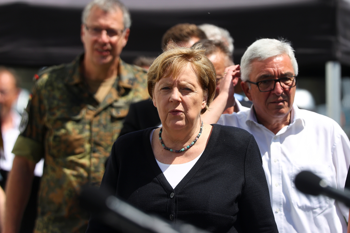 Merkel 'shocked' by 'terrifying' floods that killed 180 and has 'no phrases for destruction wreaked'