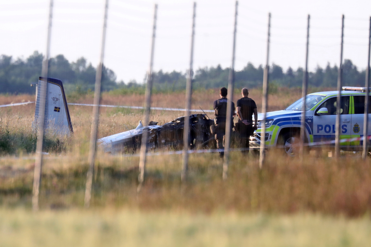 Sweden airplane crash: 'A number of' killed as plane carrying sky divers plummets to the bottom outdoors Orebro