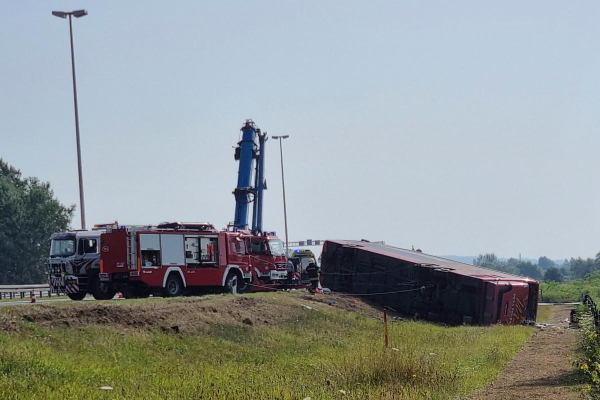Ten killed and 45 injured in horror bus crash in Croatia