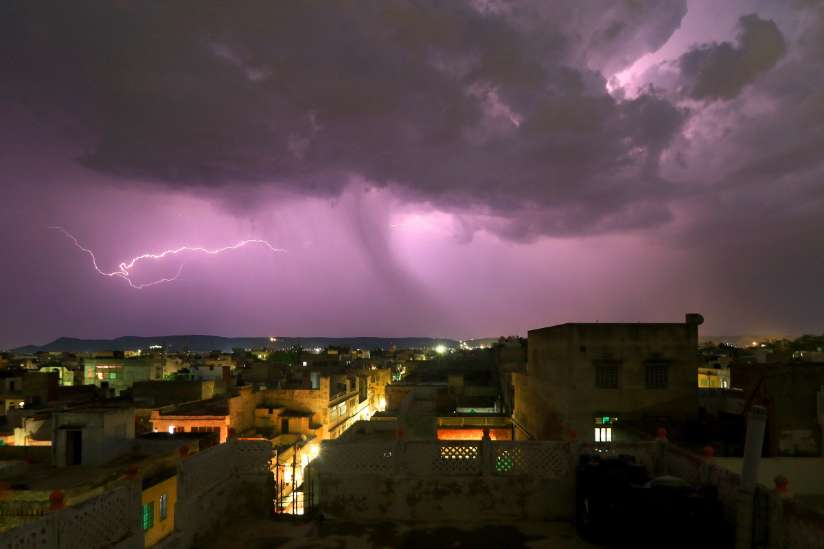 Thirty killed after lightning storm sweeps throughout India as buildings collapse and timber despatched crashing to the bottom