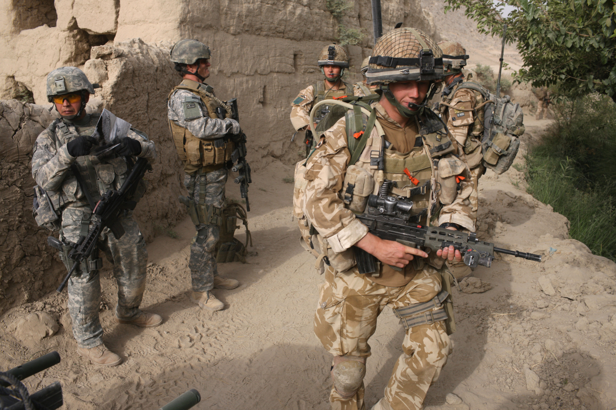 Union Flag lowered in Afghanistan after 20 years of British army presence as UK troops proceed to withdraw