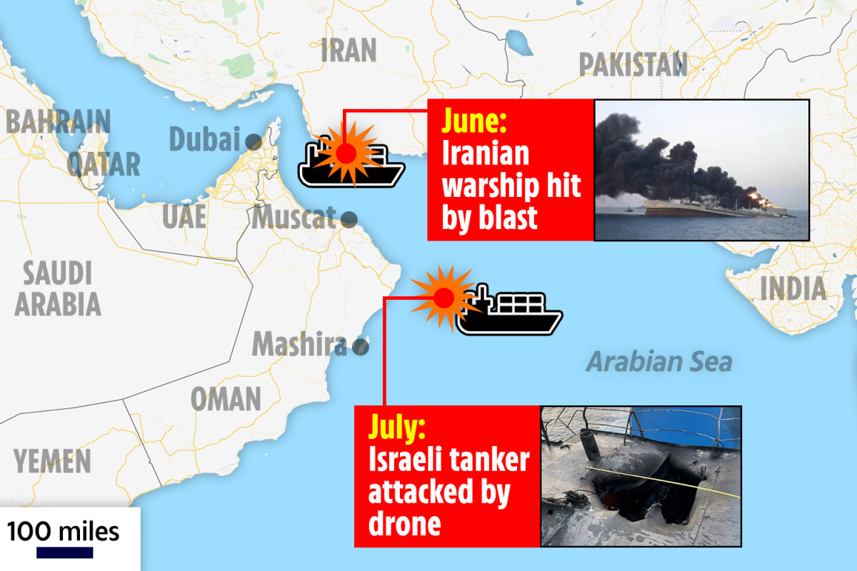 Dramatic rise in tit-for-tat hits in Israel-Iran 'shadow battle' at sea it's feared assaults may result in open battle