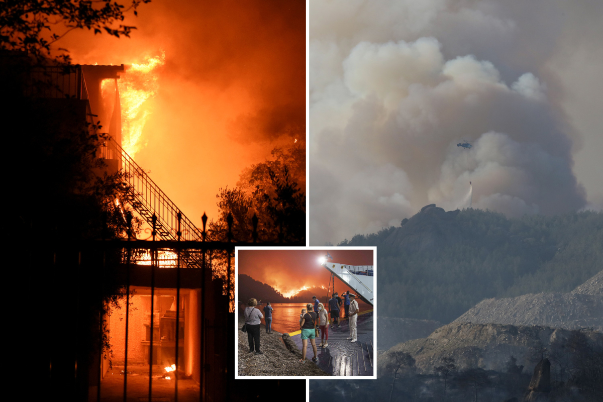 Greece and Turkey wildfires power 1000's of vacationers and locals to flee as heatwave turns forests into tinderboxes