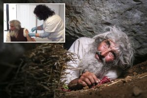 Hermit, 70, leaves tiny cave in Siberia for first time in 20 years to get Covid jab