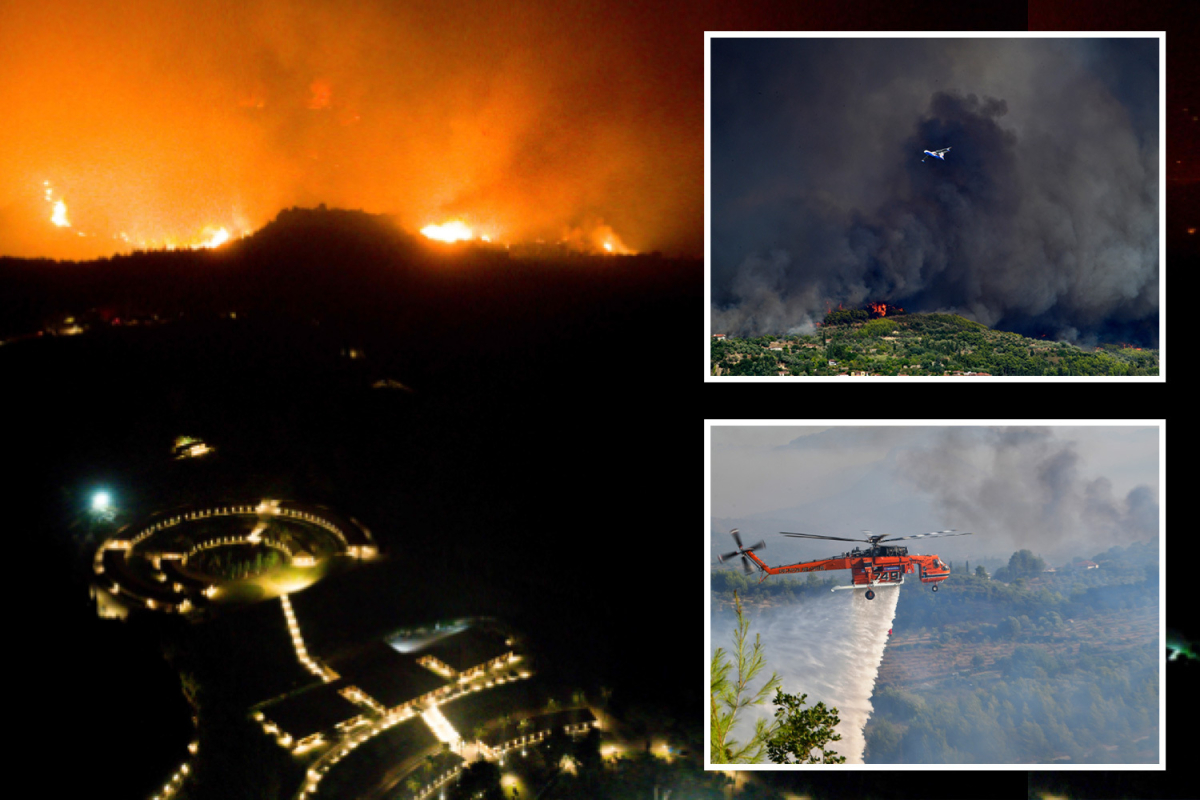 Raging forest fires close to archaeological website at birthplace of the fashionable Olympics