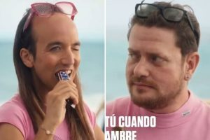 Snickers ad pulled following accusations of homophobia after it showed influencer transform into gruff man with a beard
