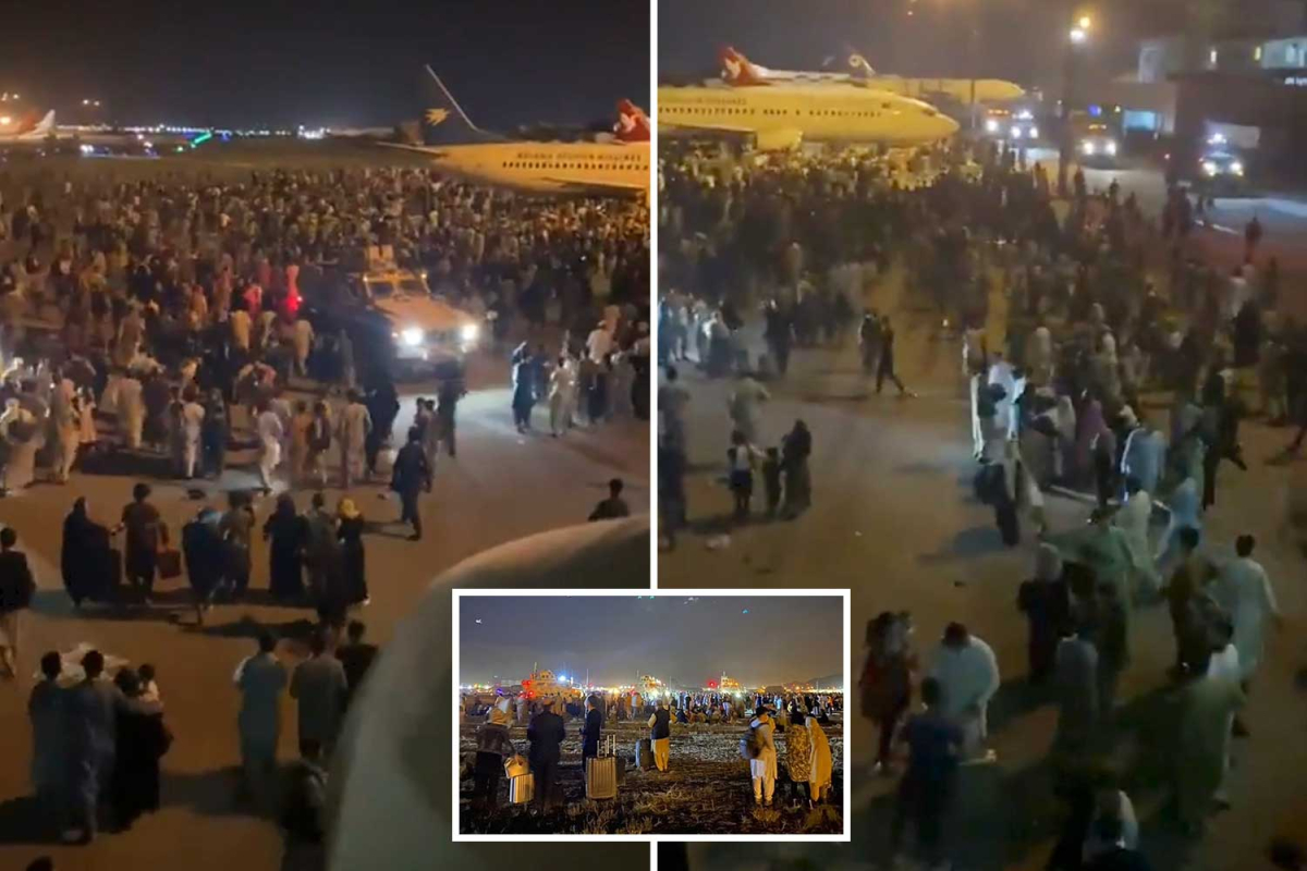 Stampede at Kabul Airport leaves '5 useless' as hundreds storm planes for final flights out of Afghanistan