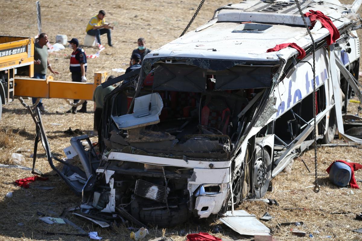 Turkey bus crash – 14 useless and 18 injured as coach veers off highway and rolls down embankment in devastating scenes