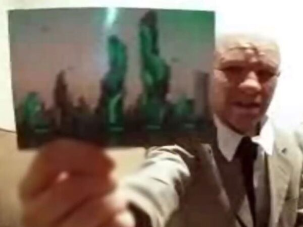 'Time traveller' Alexander Smith says he has 'picture proof' of 2118 futuristic metropolis he visited on top-secret CIA mission