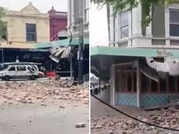 Buildings evacuated and left crumbling as Melbourne rocked by huge 6.Zero magnitude earthquake