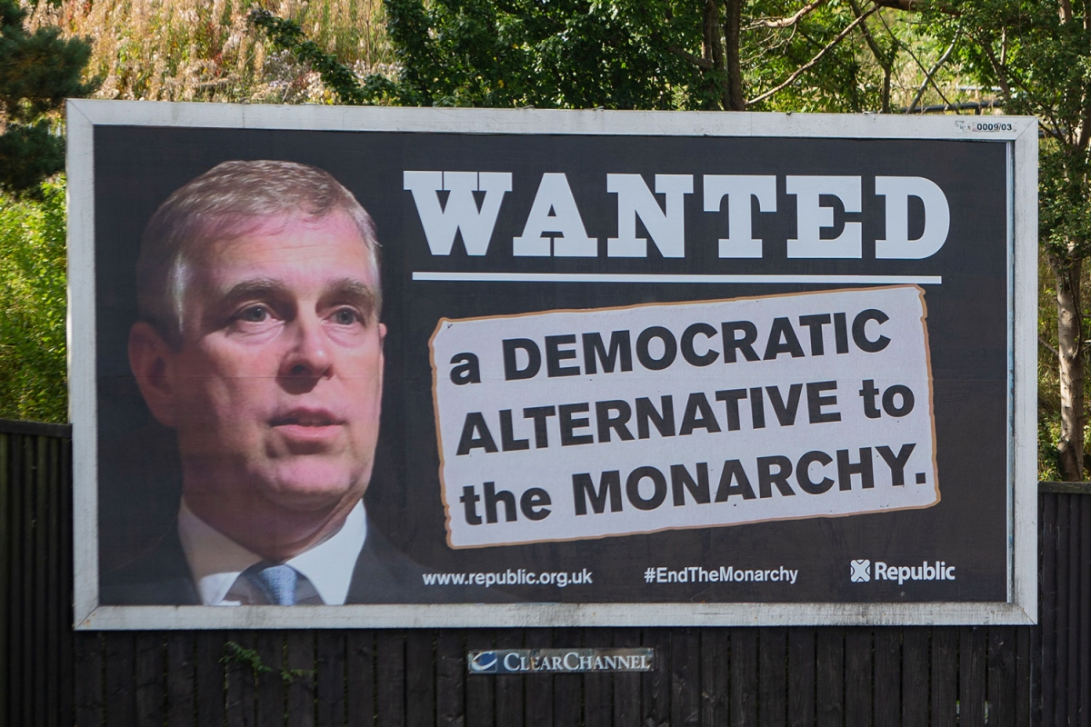 Prince Andrew 'WANTED' billboards seem throughout Britain as Duke dodges legal professionals over Virginia Roberts rape lawsuit