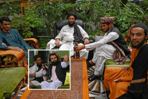 Taliban fighters take over luxury mansion of Afghan warlord with spa, swimming pool and tropical greenhouse