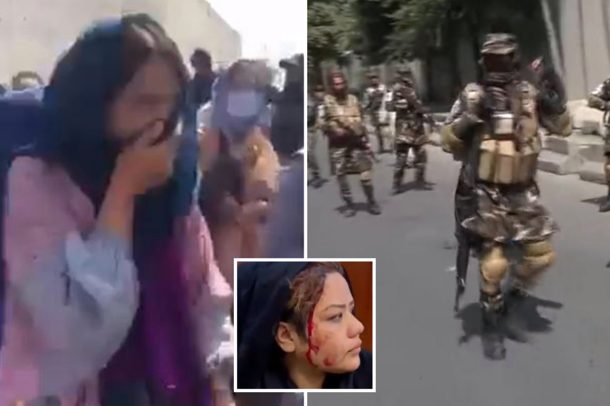 Taliban troopers armed with assault rifles 'tear fuel and beat bloody' ladies's rights protesters in Kabul