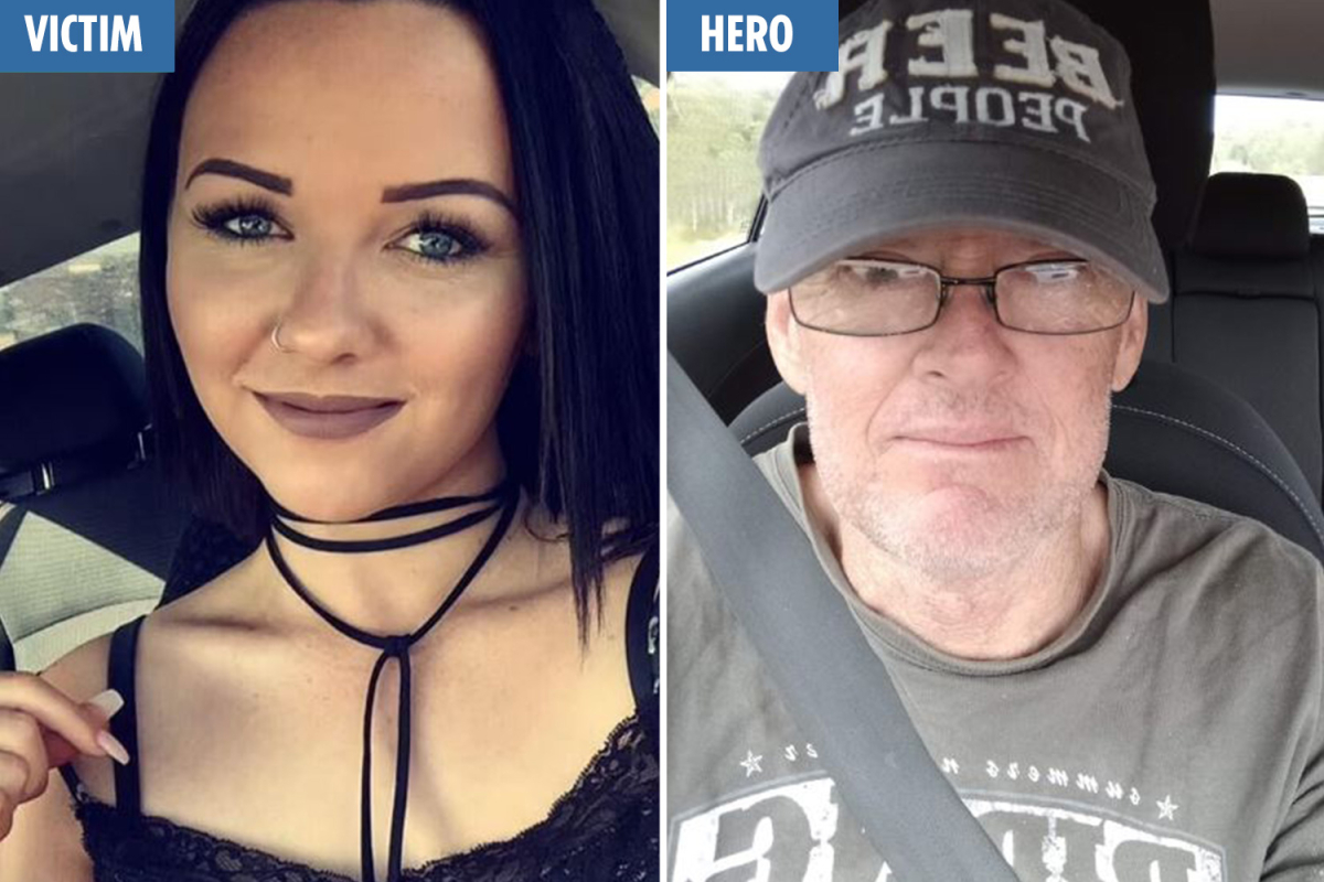 Topless sunbather's determined plea after being stabbed at random on seashore earlier than hero builder saved her life